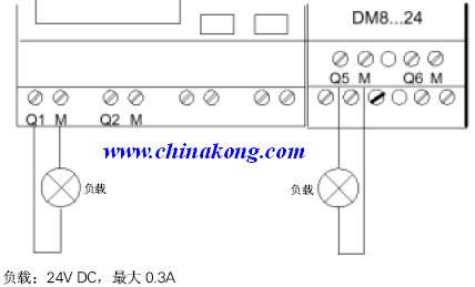 晶体管输出接线图