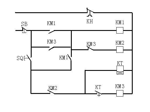简单的三相交流电机星-三角启动电路