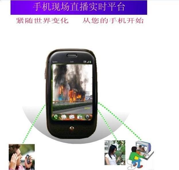 3G手机视频现场直播实时系统