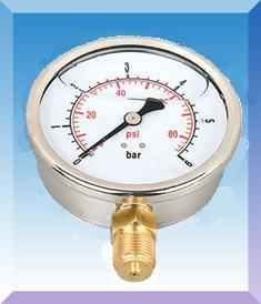 耐震双刻度压力表型号,规格,量程,精度,安装螺纹