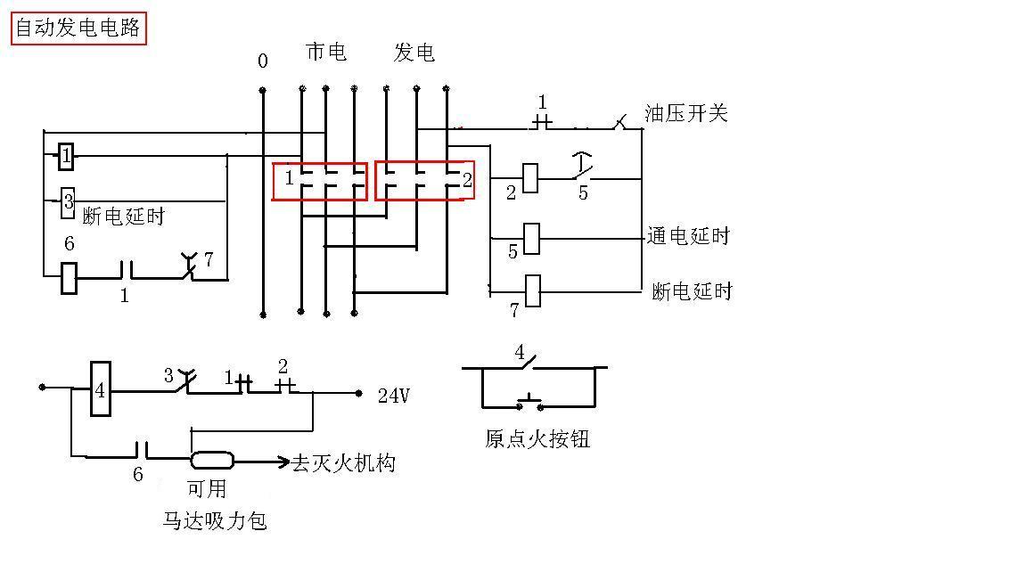 哪位朋友可以提供柴油机发电机组自动投入系统电原理