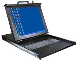 15寸KVM多功能电脑切换器 FK-150-8U