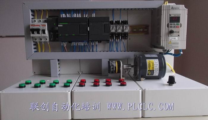 西门子S7-200PLC编程+触摸屏+伺服+步进+变频器综合