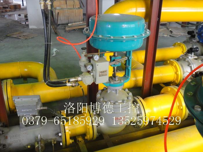 玻璃窑炉天燃气燃烧系统流量调节阀安装图片