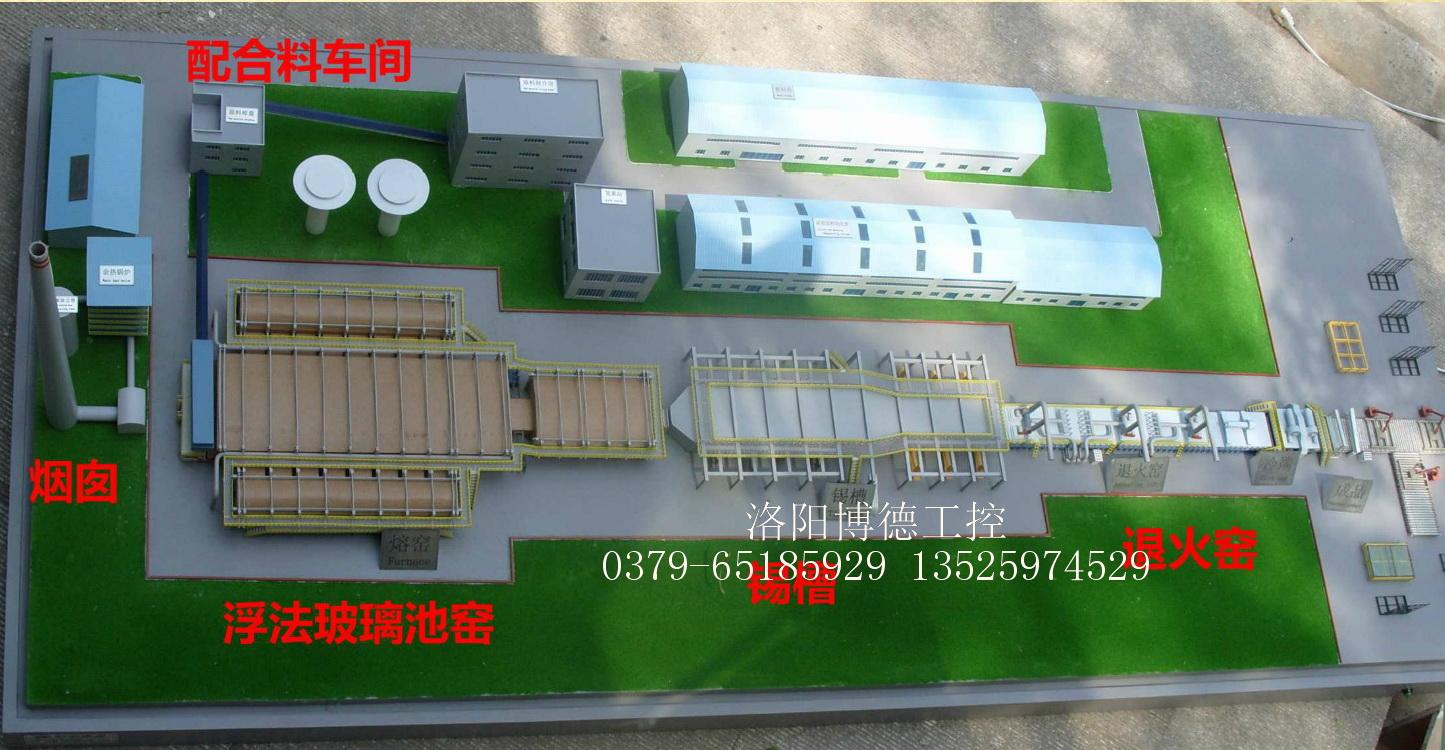 浮法玻璃生产线模型图
