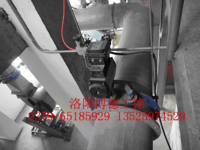 玻璃窑炉助燃风调节阀安装图片