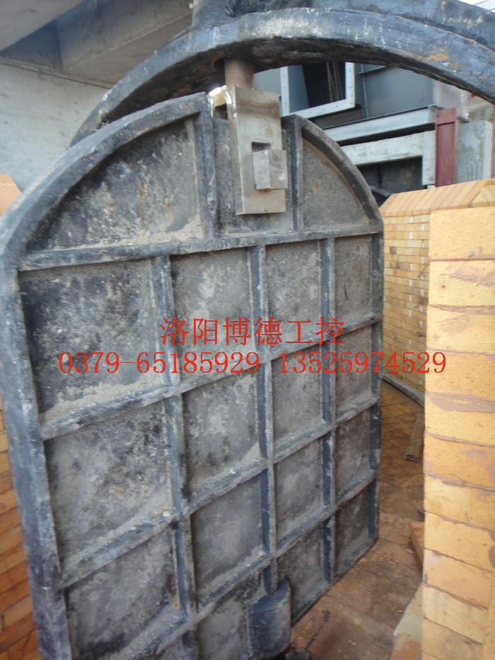 玻璃窑炉烟道旋转闸板安装图