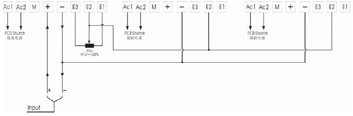 外部接线方式如上所示,在SCR控制器内部,如果输入的是4-20mA或手动信号时请将控制器电路板上J6短路片置于4-20位置处;如果输入的是1-5V或0-5V信号那么请将J6短路片置于1-5位置处。 三、安装调试步骤 由于SCR电力控制器的安装涉及了一些接线和调试问题,尤其是三相控制器,涉及到的问题就更多,本章侧重于介绍三相控制器的调试,请安装调试人员在调试前参考阅读此章。 1、检查控制器 1)检查控制器因运输的影响是否有撞伤,损坏现象。如有明显的损伤,请与我公司联系。 2)打开控制器的面板,检查因运输的影