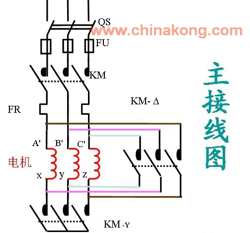 三相异步电动机接线盒内有星形和三角形两种接线图