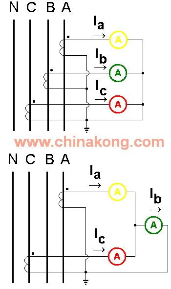配电柜电流表与电流互感器接线图