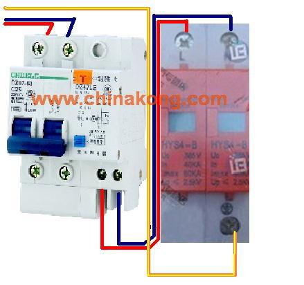 浪涌保护器在三相五线制配电系统中如何接线