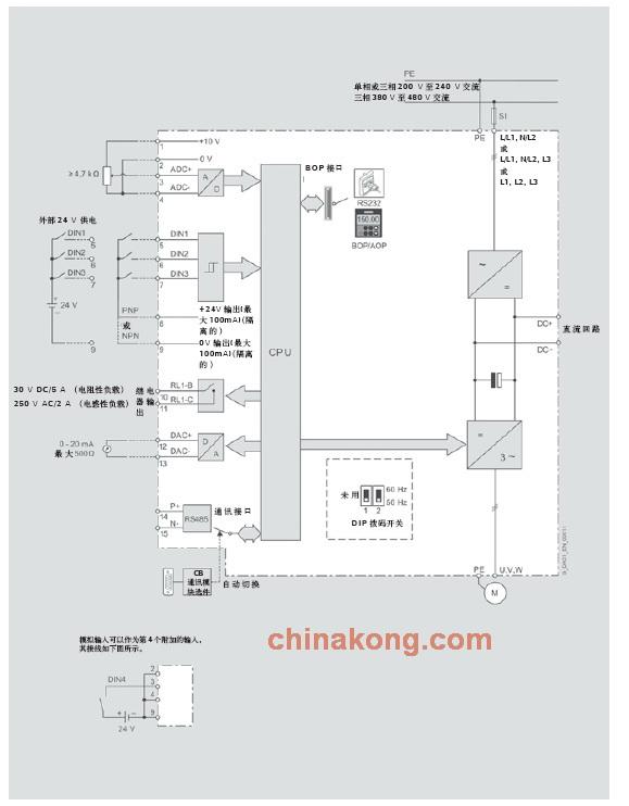 mm420变频器接线图