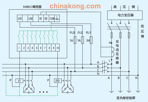 无功功率补偿控制器接线图