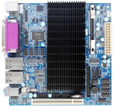 凌动AtomD425 10COM双VGA双网无风扇主板