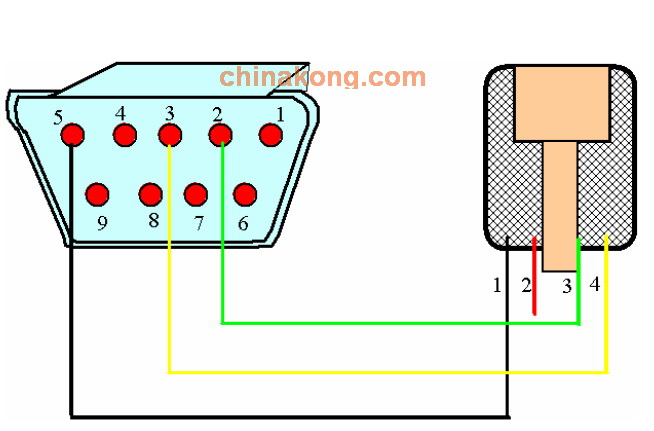 水晶头的直流电机怎么接线图解