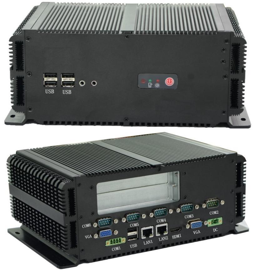双Intel网卡I3I5I7无风扇嵌入式工控机支持POE网卡