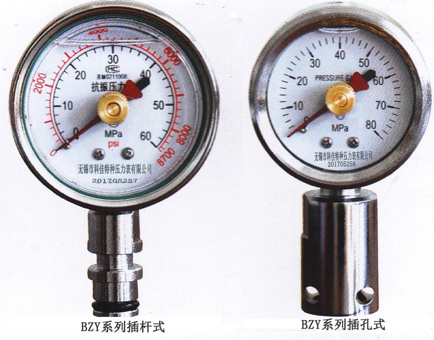 矿用双针耐震压力表